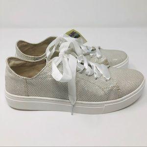 200d03dab Toms Shoes | Sale Ivory Glitter Mesh Lenox Sneaker S4 | Poshmark